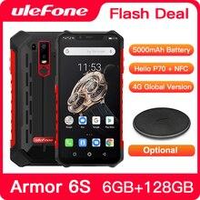 Ulefone móvil Armor 6S, 6GB + 9,0 GB, Android 128, Helio P70 octa core, 6GB + GB, teléfono móvil resistente al agua IP68, soporta NFC, versión Global