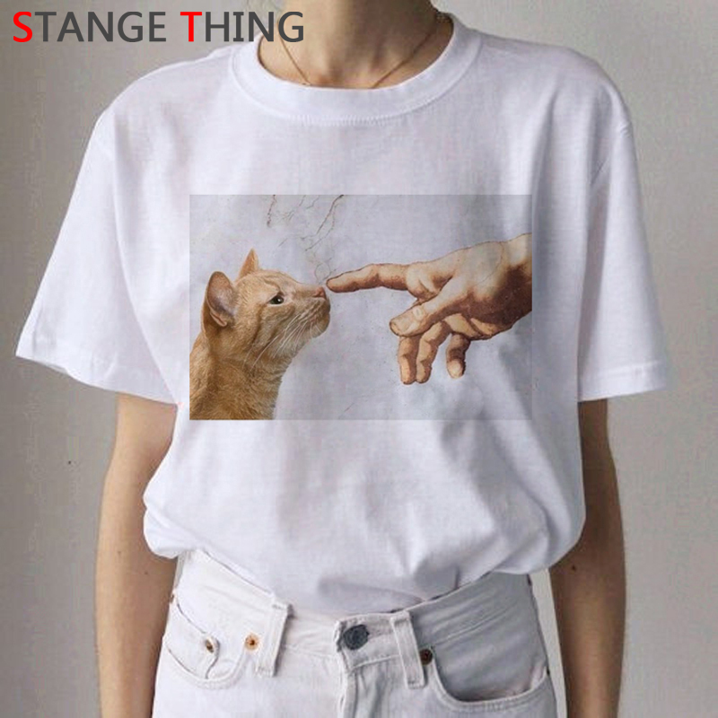 Michelangelo David Harajuku Funny Cartoon T Shirt Women Aesthetic Graphic T-shirt Ullzang Vintage Tshirt Grunge Top Tees Female