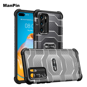 For Huawei P40 Pro+ Back Cover Mobile Phone Case Screen Drop Shock Proof Anti Dust Heavy Duty Protective TPU PC Shell Outdoor