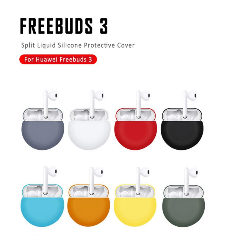 Fashion Bluetooth Earphone Cover Silicone Case Shocks Applicable Water-proof For Huawei Freebuds 3 For Huawei New Case Set