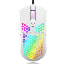 M5 Hollow-out Honeycomb Shell Gaming Mouse Colorful RGB Backlit Light Wired Mice X6HA