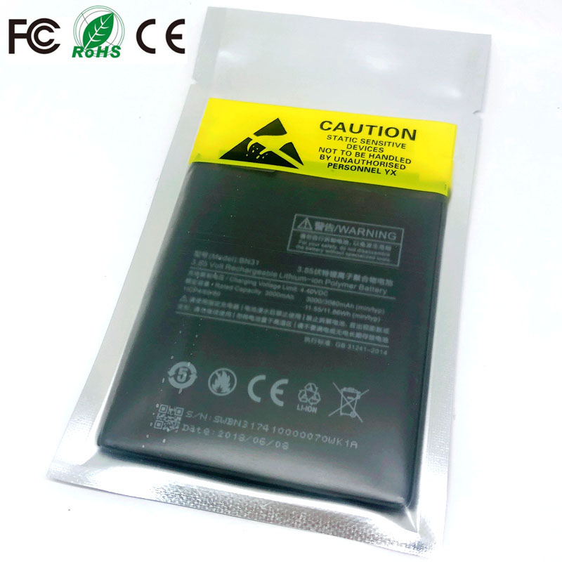 BN31 Rechargeable <font><b>Battery</b></font> For <font><b>Xiaomi</b></font> Mi 5X A1 <font><b>MiA1</b></font> Mi5X Hongmi Redrice Redmi Y1 Lite Note 5A Pro Phone Replacement <font><b>battery</b></font> image