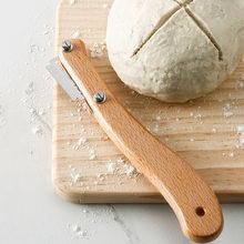 Trancheur de pâte avec 5 lames de remplacement, manche en bois, outils de cuisson de Toast, Lame à pain