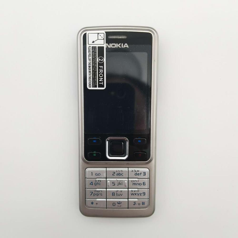 Горячая Распродажа~ разблокированный мобильный телефон Nokia 6300 разблокированный 6300 FM MP3 Bluetooth мобильный телефон один год гарантии - Цвет: Серебристый