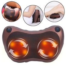 Neck Massager Shoulder Back Body Massage Pillow Electric Shiatsu Spa Home/Car Relaxation Pillow with LED Light Heat Dropshipping angelruila neck massager shoulder back leg body massage pillow electric shiatsu spa home car equipment with led light heating