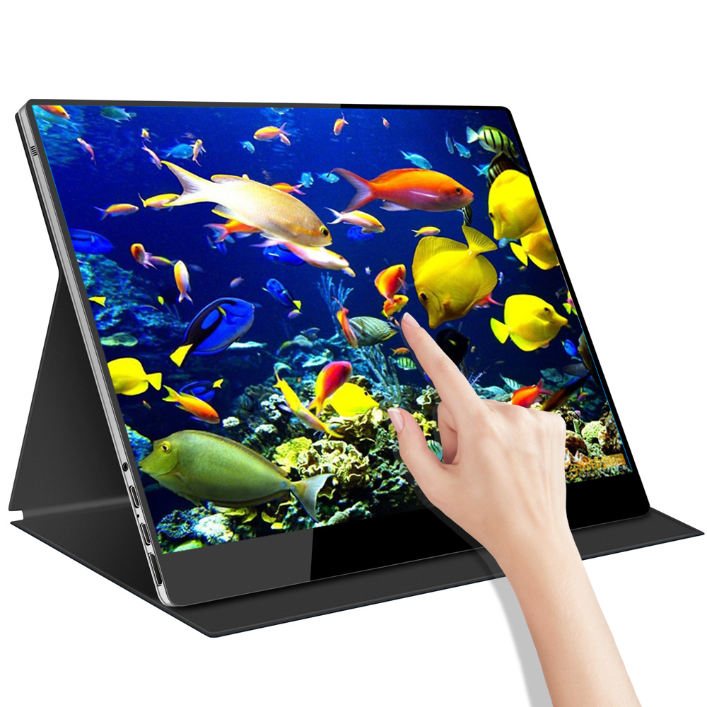 Newest portable monitor 15.6 inch Touch screen Built in battery 3840*2160p 4K...