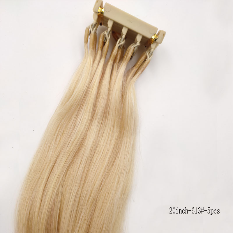 Second Generation 6D Virgin Hair Extensions Can Be customized For Hightlights hair connector salon tools