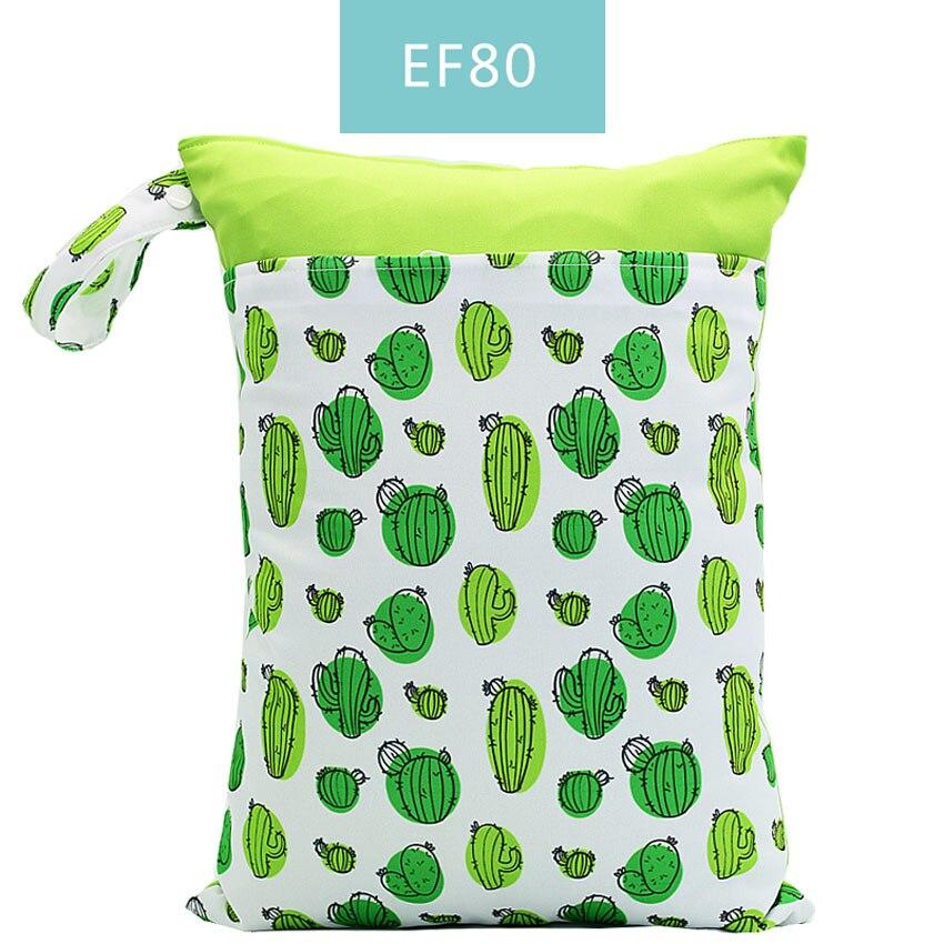 Happy Flute 1 шт. Многоразовые водонепроницаемые модные принты влажная сухая сумка для подгузников двойной карман тканевая Ручка сумки для мокрого плавания 30*40 см - Цвет: ES001EF80