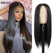T parte reta do laço frontal peruca dianteira do laço perucas de cabelo humano para preto feminino brasileiro perucas de renda remy 150 densidade beyo cabelo