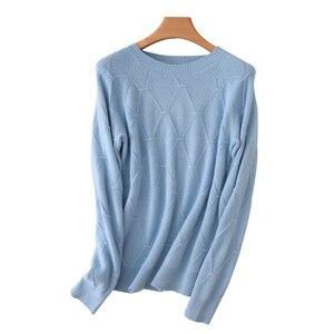 Image 5 - 100% kaszmirowy sweter z dzianiny damskie swetry 5 kolorów O Neck nowy moda damska swetry standardowe ubrania