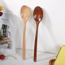 Tableware Wooden Spoon Bamboo Kitchen Cooking Utensil Tool Soup Teaspoon Catering Long Handle Wood Spoons For Children(China)