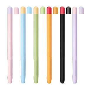 Dla Apple ołówek 2 przypadku krzemu pokrywa uniwersalny kolorowe dla IPad ołówek 2
