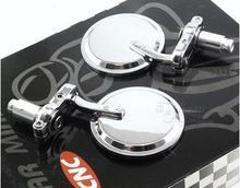 цена на Motorbike Motorcycle Mirror CNC Aluminum Handlebar End Rearview Side Mirrors Accessories For Harley Honda Suzuki Kawasaki