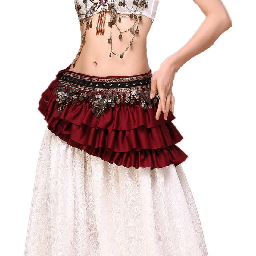 Buikdans 2020 Nieuws 3 Kleuren Hip Sjaal Belly Belt Tribal Kleren Dansen Wrap Munten Bellydance Zigeuner Kostuum Accessoires