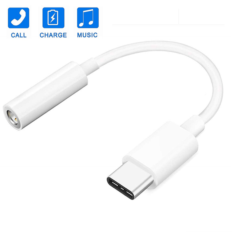Type C 3.5mm Aux Adapter Earphone Audio Converter USB C To 3.5 Mm Headphone Aux Otg Cable For Huawei P20 P30 Pro Mate 10 20 Lite