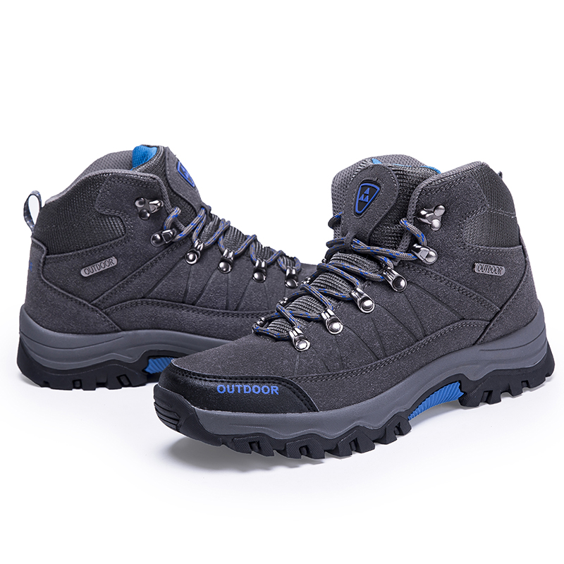 Hiking-Shoes Waterproof Outdoor Men Wear-Resistant Collision-Proof Thick-Bottomed