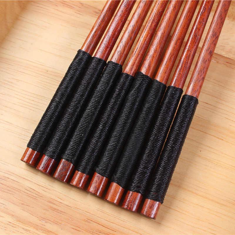 Suef 1 par puro manual japonês natural chestnut pauzinhos de madeira conjunto valor presente sushi comida chinesa gravata linha @ 1