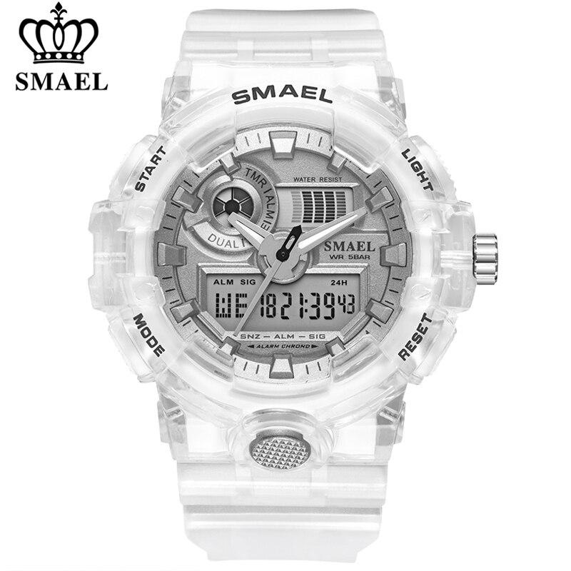 SMAEL Sport Watch Men Waterproof Top Brand Digital Watches Quality Plastic Watch Band Dual Display Wristwatch Relogio Masculino