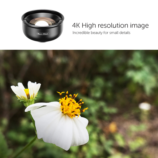 APEXEL HD optic camera phone lens 50mm super macro lens  with 17mm thread phone case for iPhonex xs max Samsung s9 all smartphon 1