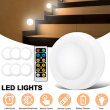 1pcs LED Night Colorful Light Lamp Remote Control for Wardrobe Stair Hallway Emergency