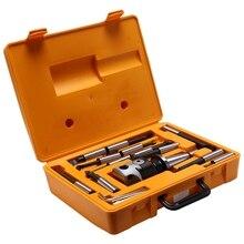 ABSF NT40/ISO40 Taper, F1 18 cabezal de taladrado de 75mm con vástago NT40/ISO40 y 12 Uds. Barras de perforación de 18mm, juego de cabezal de taladrado