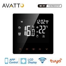 AVATTO – Thermostat WiFi intelligent tuya pour chauffage électrique au sol, appareil pour chaudière à eau et à gaz, contrôleur de température à distance, pour Google Home utilisant Alexa