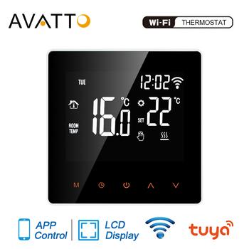 AVATTO Tuya-inteligentny termostat wiFi elektryczne ogrzewanie podłogowe kocioł do wody gazowy zdalna kontrola temperatury zgodny z Google Home i Alexa tanie i dobre opinie CN (pochodzenie) WT02 110-230VAC 50~60HZ build-in sensor and floor sensor -5 ~ 50 C 5 ~ 95 C Tuya Smart life Yandex Alice Alexa Google home