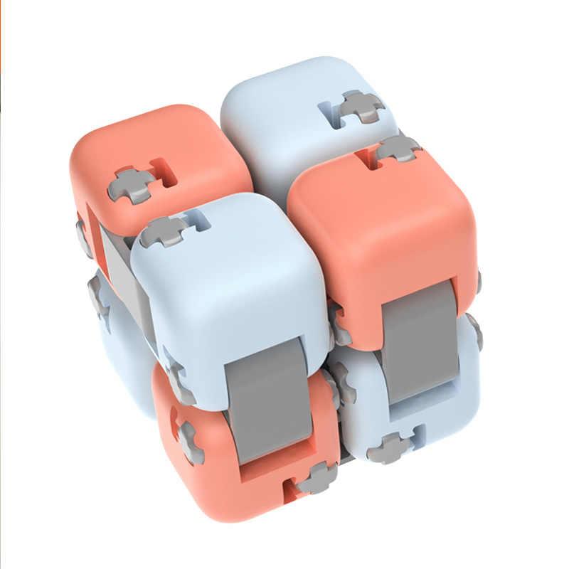 Xiaomi Mijia ミトゥスピナーカラフルなビルディングブロック指フィジェット解凍のおもちゃパズル組立キューブ指スピナーおもちゃ