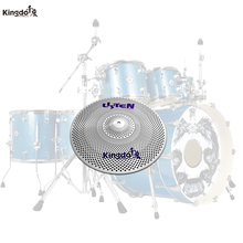 Kingdo practice cymbal slience 10splash cymbal low volume cymbal for drums set arborea cymbal gravity 14hi hat cymbal for drums
