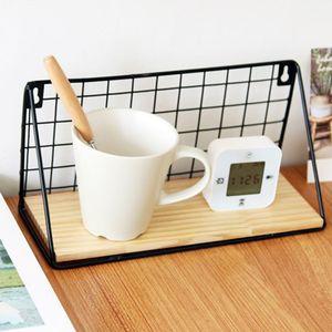 Image 3 - ไม้เหล็กชั้นวางของติดผนังชั้นวางองค์กรสำหรับห้องครัวห้องนอนตกแต่งบ้านเด็กห้องDIYผนังตกแต่งผู้ถือ