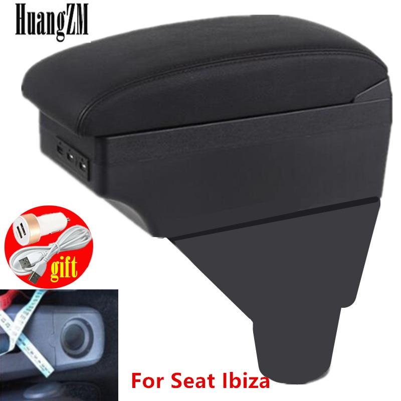 Для подлокотника Seat Ibiza 6L, двухслойный usb