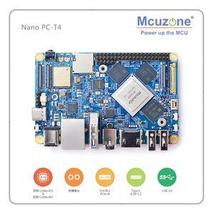 FriendlyELEC NanoPC-T4 Rockchip RK3399Cortex-A72 Cortex-A53 VR AI OpenCV TensorFlow MIPI Dual band wifi M.2PC EC20 4G 16GB EMMC(China)