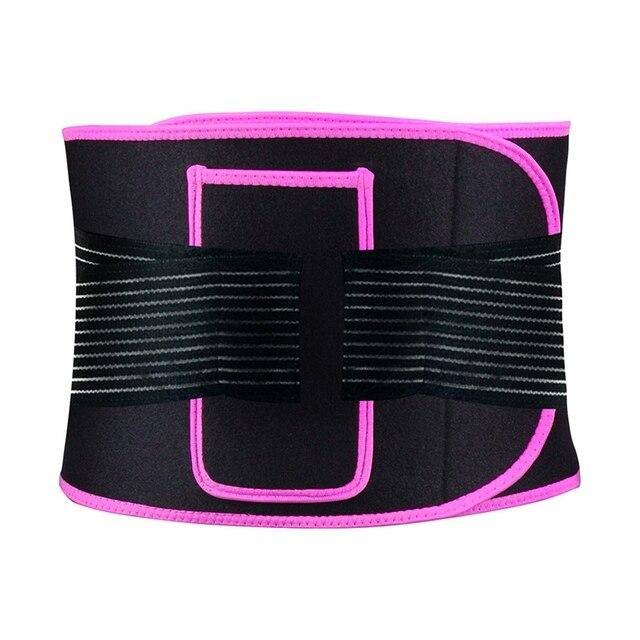 Portable Waist Belt Adjustable Compression Sweating Slimming Wrap Trainer Exercise Fitness Unisex Slimming Training Sport Belt