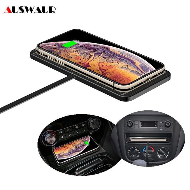 C1 רכב אלחוטי מטען Pad עבור iPhone 11 פרו מקס סמסונג S10 בתוספת Huawei צ י אלחוטי מטען לרכב לוח מחוונים אחסון מגירה