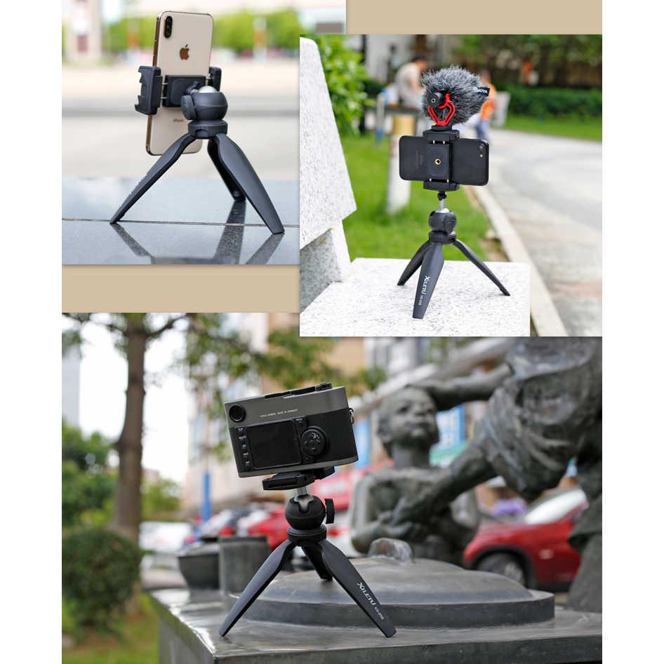 ترايبود صغير سطح الطاولة حامل للهاتف جبل المدمجة السفر ترايبود للكاميرا آيفون 5 6 7 8 Plus X XR XS ماكس 11 برو هواوي سامسونج