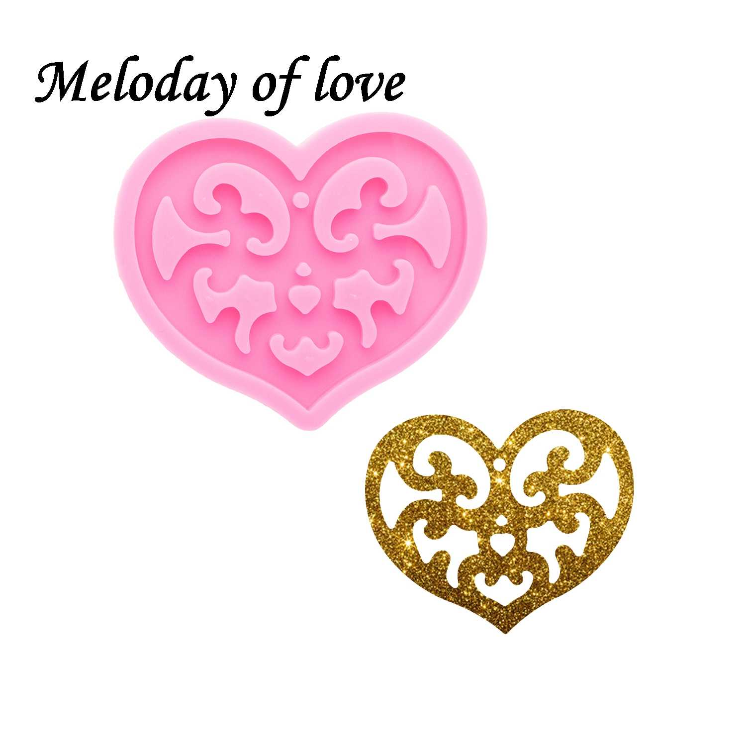 Love heart Shape Silicone Mold,Silicone Keychain Mold,Pendant mold,Epoxy Resin,DIY Keychain,Jewelry Mold,Glitter Mold,Resin mold