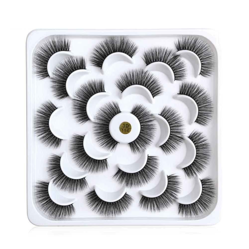 10 Pairs 3D Mink Hair False Eyelashes Women Eyes Makeup Tools Long Extension Waterproof Thick Fake Lashes For Natural Lashes thumbnail