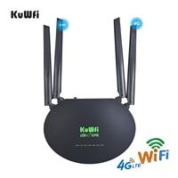 Router KuWfi 4G LTE 300Mbps Wireless CPE 3G/4G LTE Wifi Router con Slot per schede Sim porta Wan/Lan 4 antenne esterne