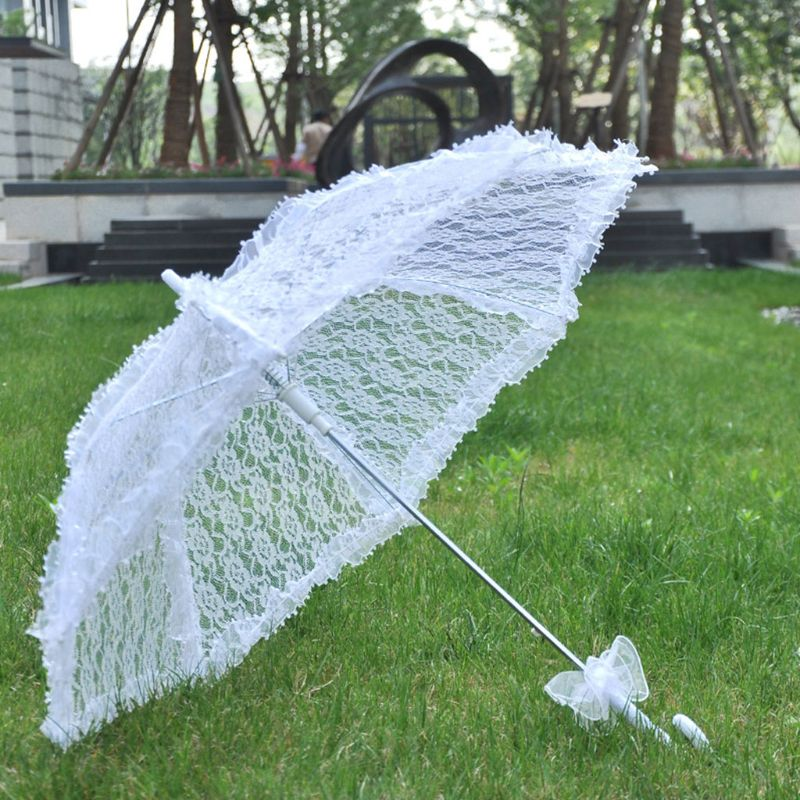 Simple Wedding Supplies Lace Hollow Bride Wedding Umbrella Photo Decoration Photography Props