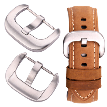 цена 316l Stainless Steel Watch Buckle 18mm 20mm 22mm 24mm Watch Band Strap Silver Brushed Clasp Watch Accessories онлайн в 2017 году