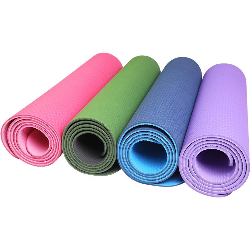 TPE Non Slip Yoga Mat Fitness Mattress Sport Bodybuilding Carpet Yoga Pad Dancing Gym Exercise Mat For Home(China)