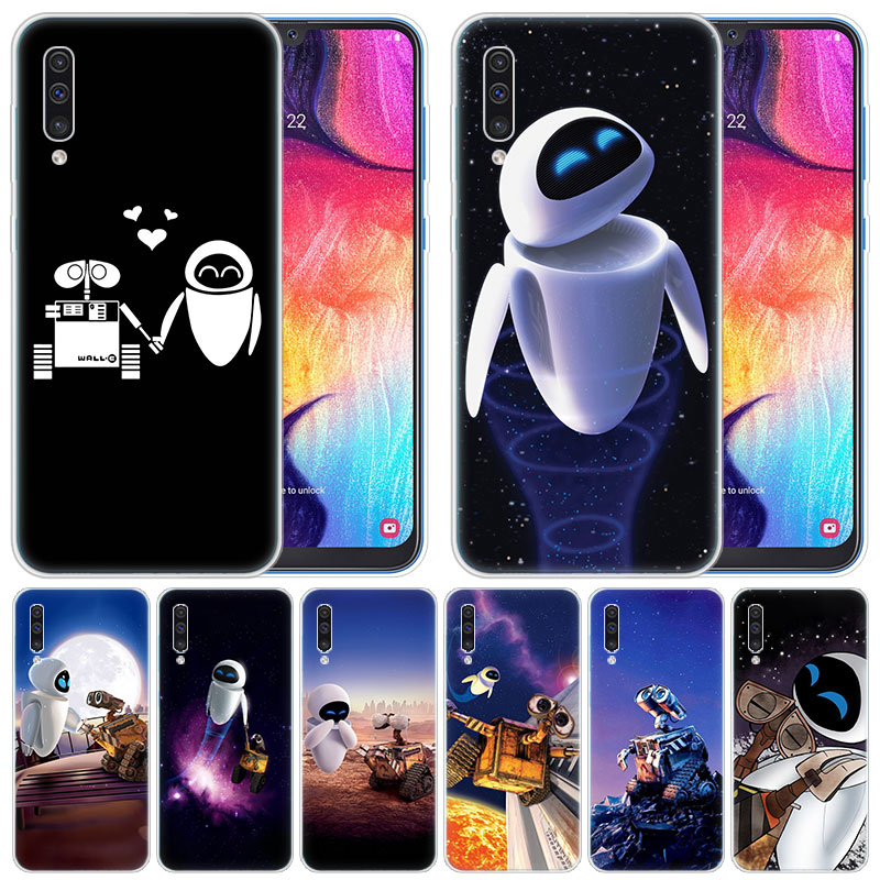 luxury Soft Silicone Case Wall-E Robot for Samsung Galaxy A50 A70 A80 A40 A30 A20 A10 A20E A2 CORE A9 A8 A7 A6 Plus 2018 Cover