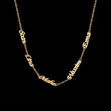 Cazador personalizado vários nomes colar personalizado 6 placas de identificação pingente de aço inoxidável família membros jóias presente