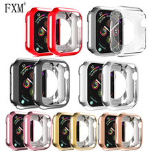 цена на Watch Case for Apple Watch 5 4 3 2 Cover Soft Tpu Protective Bumper Shell Anti-fall 40mm 44mm 38mm 42mm Apple watch accessories