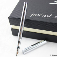Jinhao 126 Classic Silver Fountain Pen with 0.5mm Iridium Ni