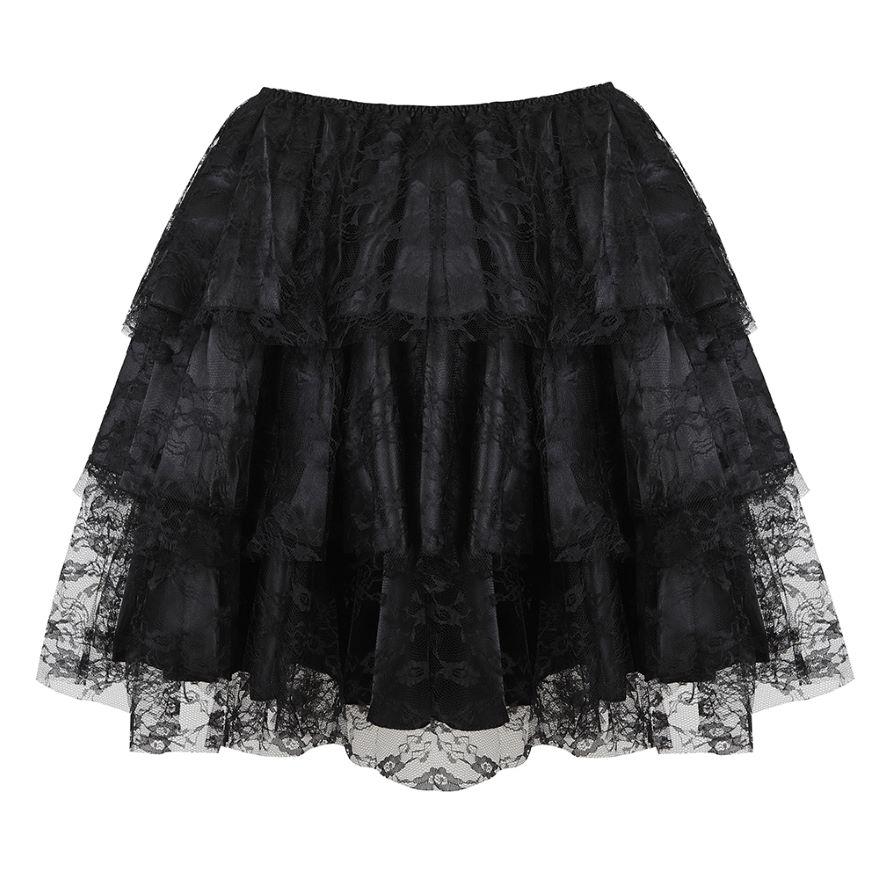 Женская многослойная пикантная кружевная Тюлевая плиссированная юбка с цветочным рисунком, юбки для вечевечерние НКИ Showgirl для танцев, юбка...