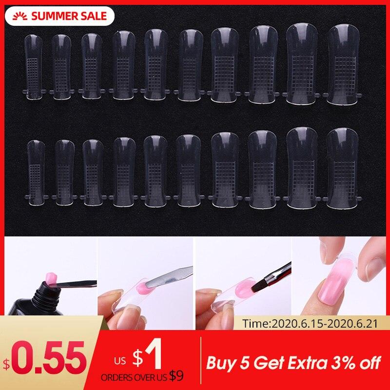 1 boîte rapide construction moule conseils ongles double formes Extension de doigt Art des ongles UV étendre Gel outil dextension des ongles