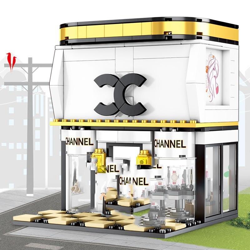 City Mini Street Series Educational  Building Blocks Bricks Kits Brand Shop Pedestrian Diy Brick Toys For Girls Birthday Gifts