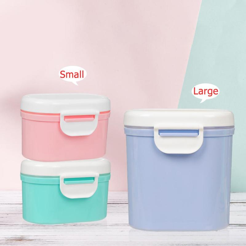 Simple Portable Baby Food Storage Box Newborn Cereal Milk Powder Container Case Outdoor Feeding Accessories With Spoon