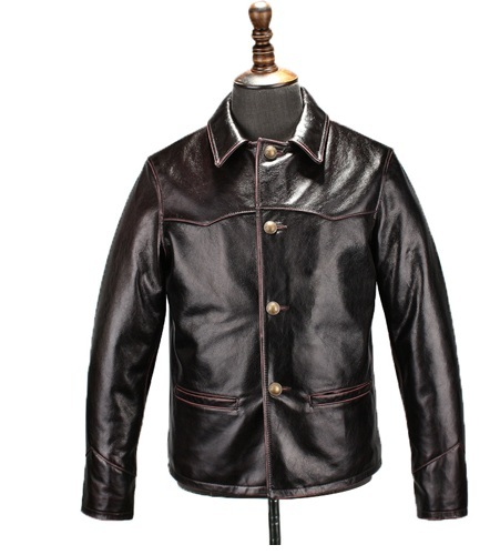 Free Shipping.casual Recreation Jacket, Men's Leather Coat,classic Brakeman Cowhide Jacket,quality.sales.japan Style